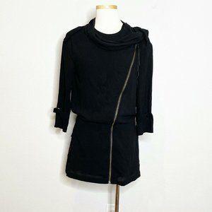 Acne Studios Guerre Crepe Aviator Zip Front Dress